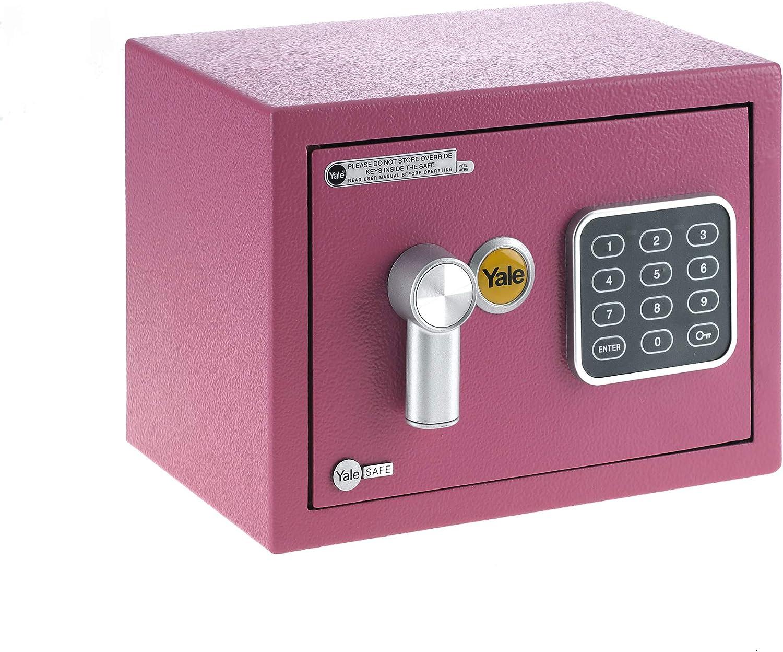 Yale YSV/170/DB1/P Caja de Seguridad a Mobile, Rosa, XS: Amazon.es: Bricolaje y herramientas