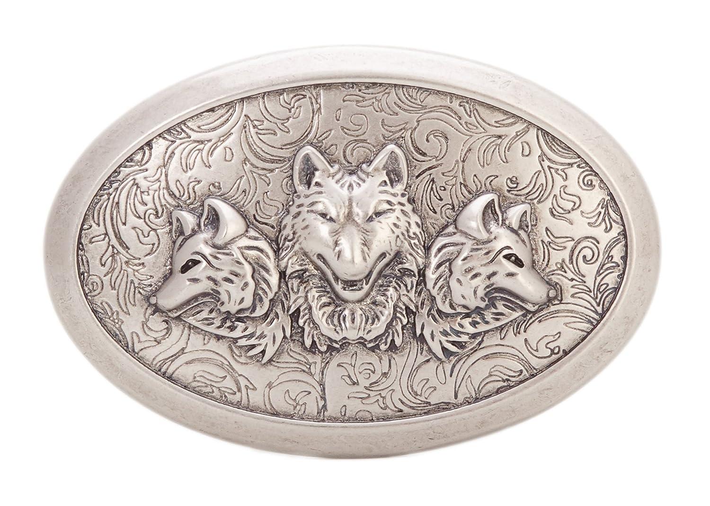 Gurscour Western Wolf Belt Buckle - Retro Silver Color