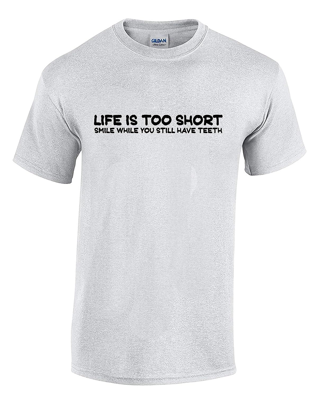 Mens T-Shirt KNBC Graphics Life is Too Short Smile