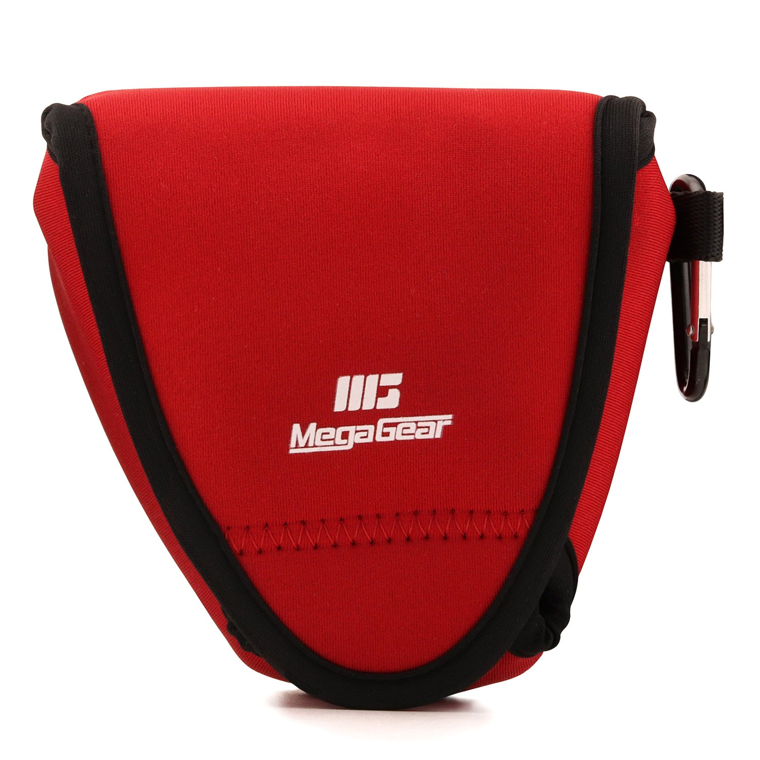 MegaGear Fujifilm X-E3 (23mm & 18-55mm) Ultra Light Neoprene Camera Case, with Carabiner - Red - MG1337