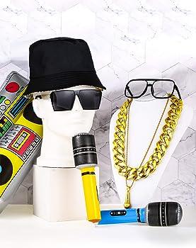 Amazon.com: 80s/90s Hip Hop Disfraces Accesorios Bucket Hat ...