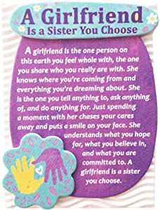 "Blue Mountain Arts Miniature Easel Print with Magnet ""A Girlfriend Is a Sister You Choose"" 4.9 x 3.6 in., Perfect Birthday, ""Thinking of You,"" Friendship, or ""Just Because"" Gift for a Woman Friend"