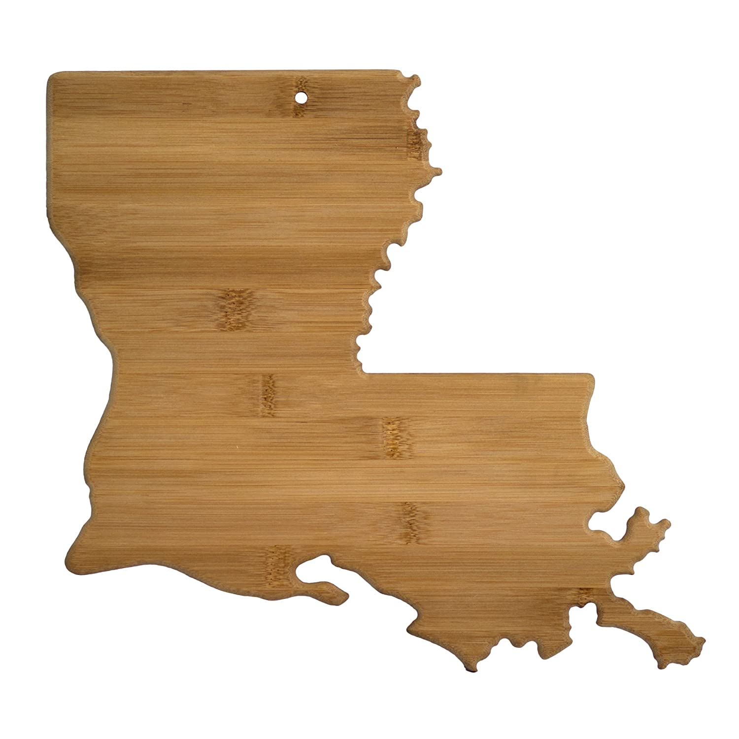 Totally Bamboo Louisiana State Shaped Bamboo Serving and Cutting Board