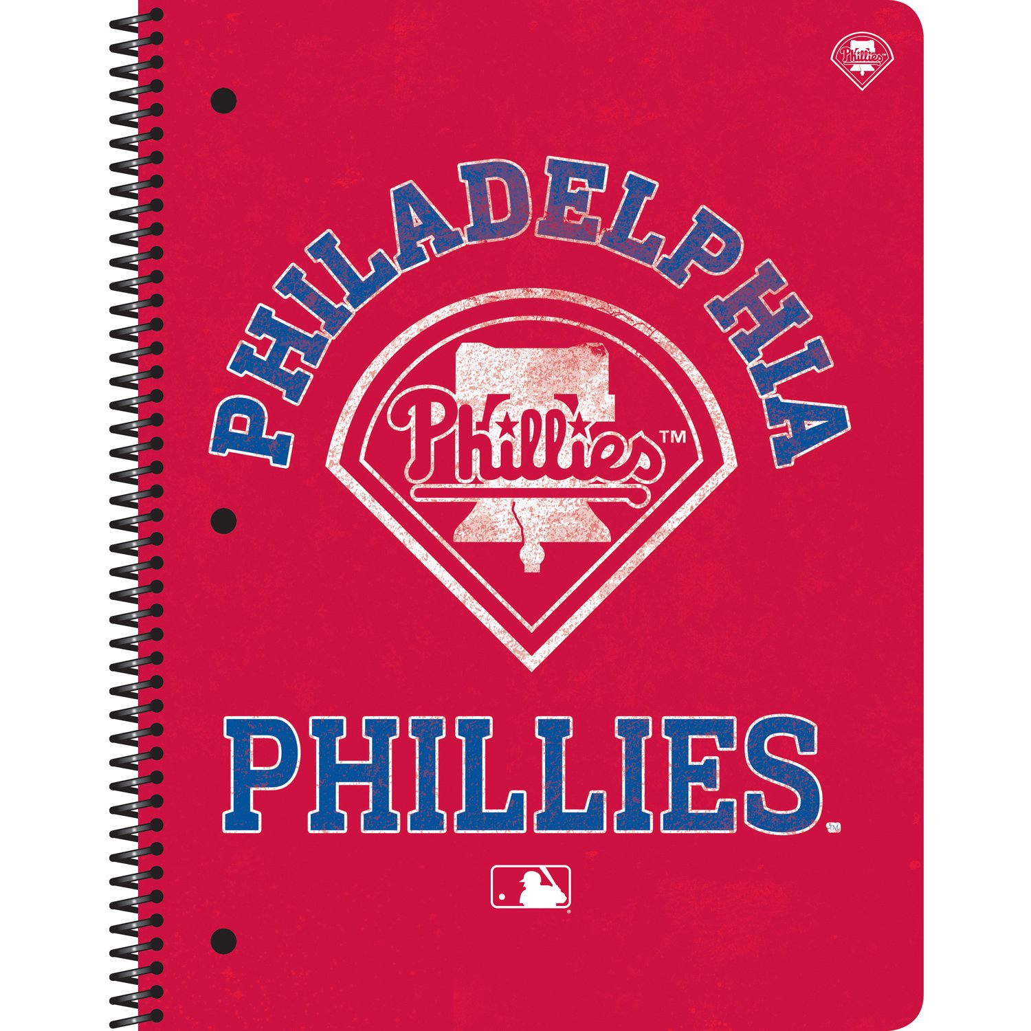 CRG C.R. Gibson 1-Subject Spiral Notebook, Vintage Philadelphia Phillies (M943308WM)