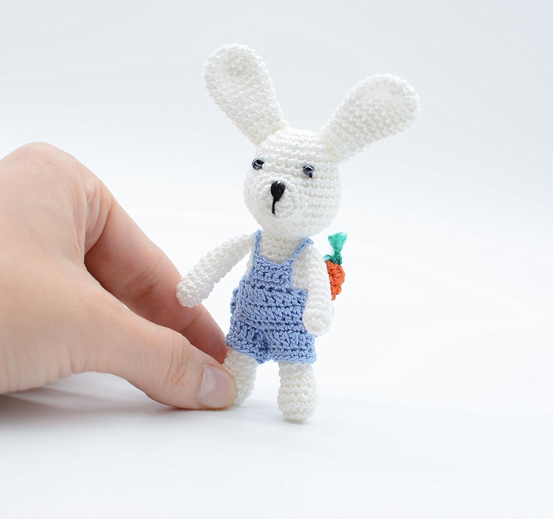 Conejito de peluche, conejo en miniatura, conejito de amigurumi ...