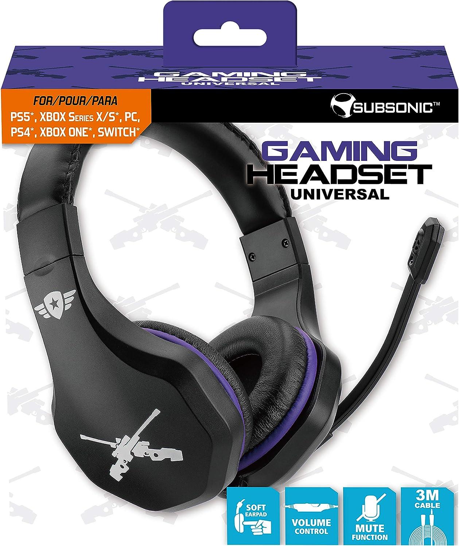 Subsonic - Auriculares con micrófono (PS4 Slim / Pro - Xbox ...