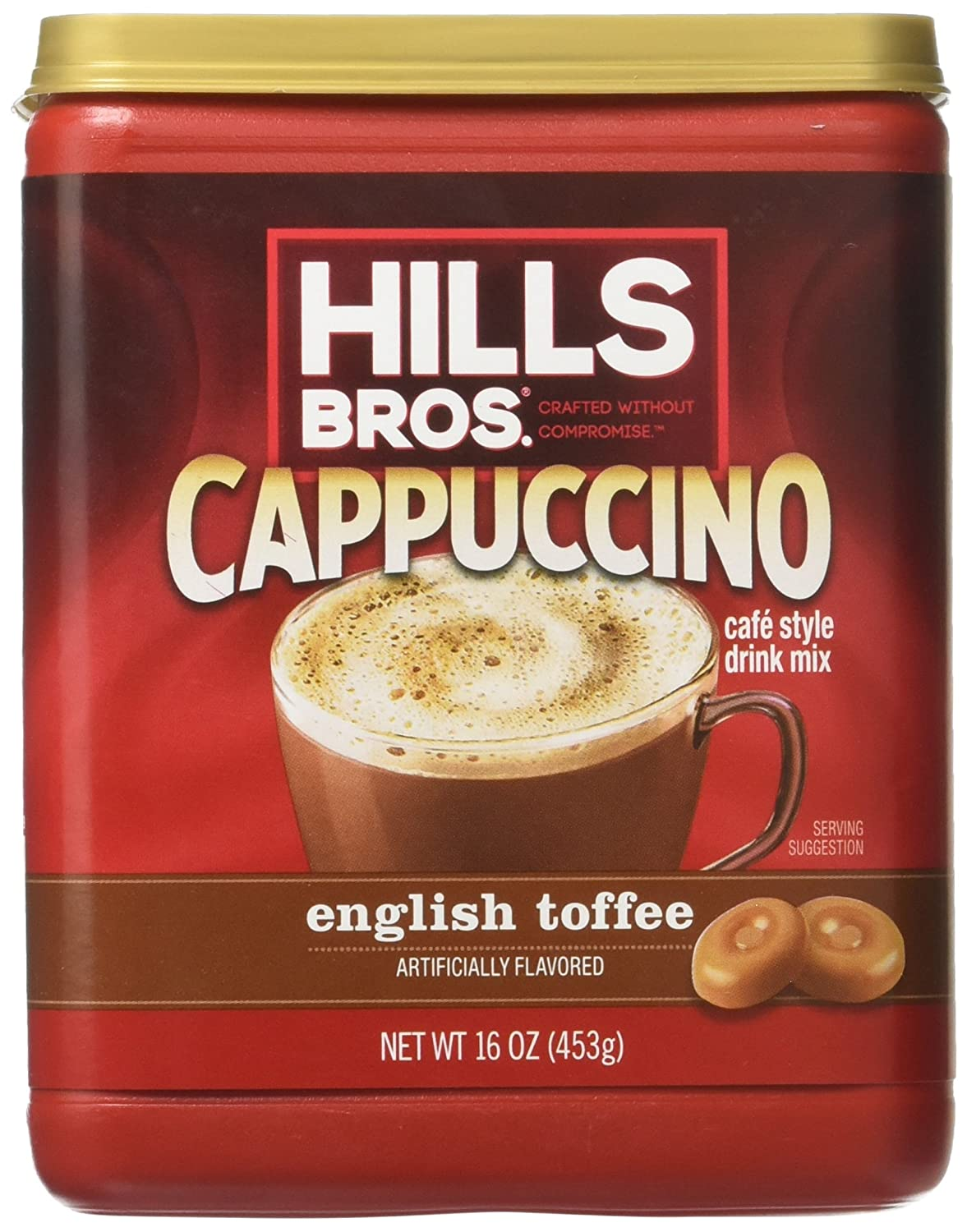 Hills Bros. Instant Cappuccino Mix, Classic Cappuccino Mix – Easy to Use and Convenient, Enjoy Coffeehouse Flavor at Home – Frothy, Decadent Cappuccino with a Hint of Sweetness (14 Ounces) Hills Bros Coffee 10018400313672