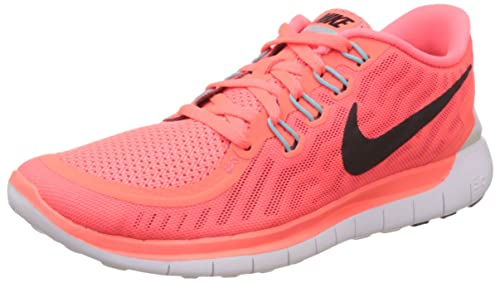 separation shoes a8bab 0e191 Nike Women s WMNS Free 5.0 Hot Lava, Lava Glow, Bright Crimson and Black  Running