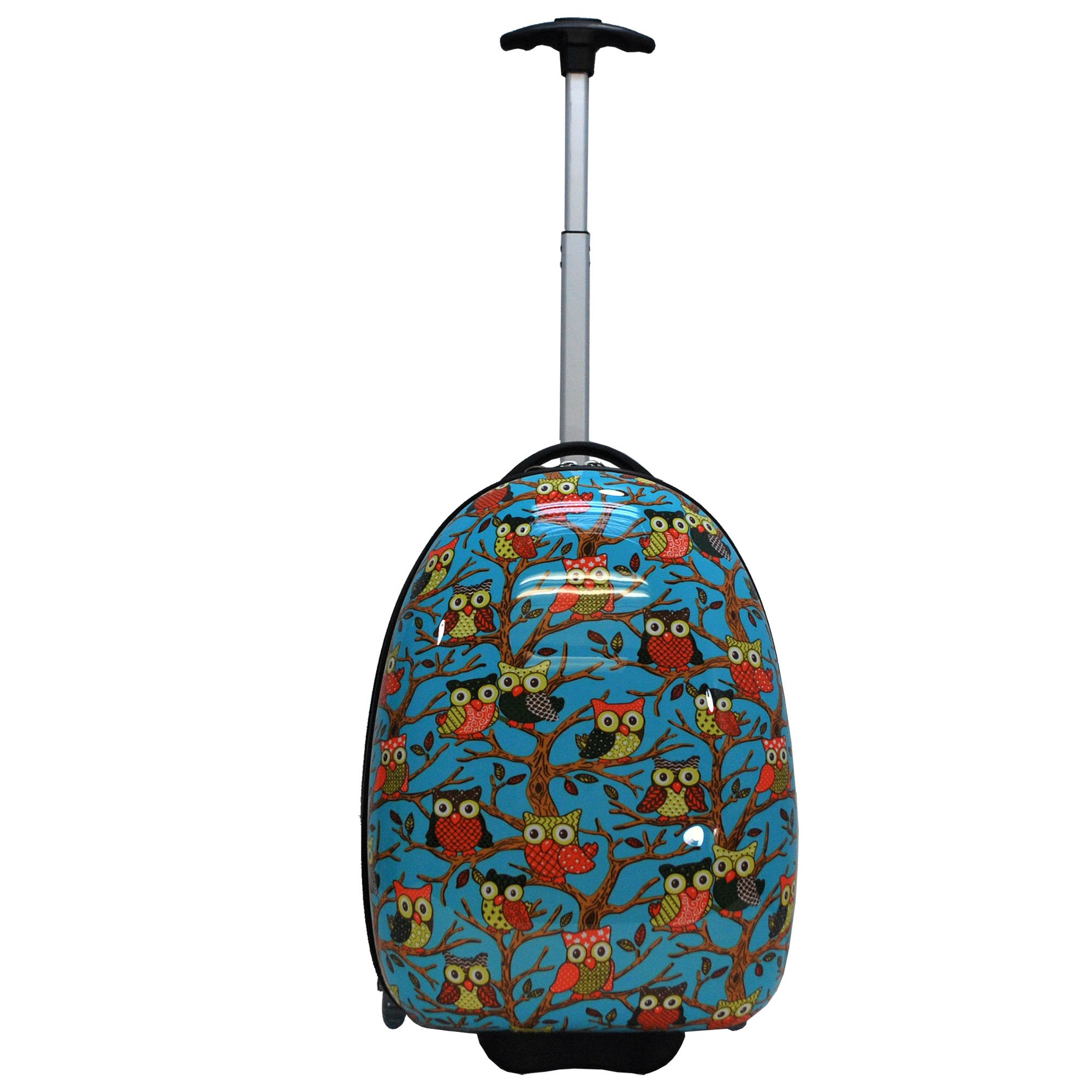 Owl Print Kids Hard Shell Luggage/Children Suitcase Carry On Luggage in 3 Colors (Blue)