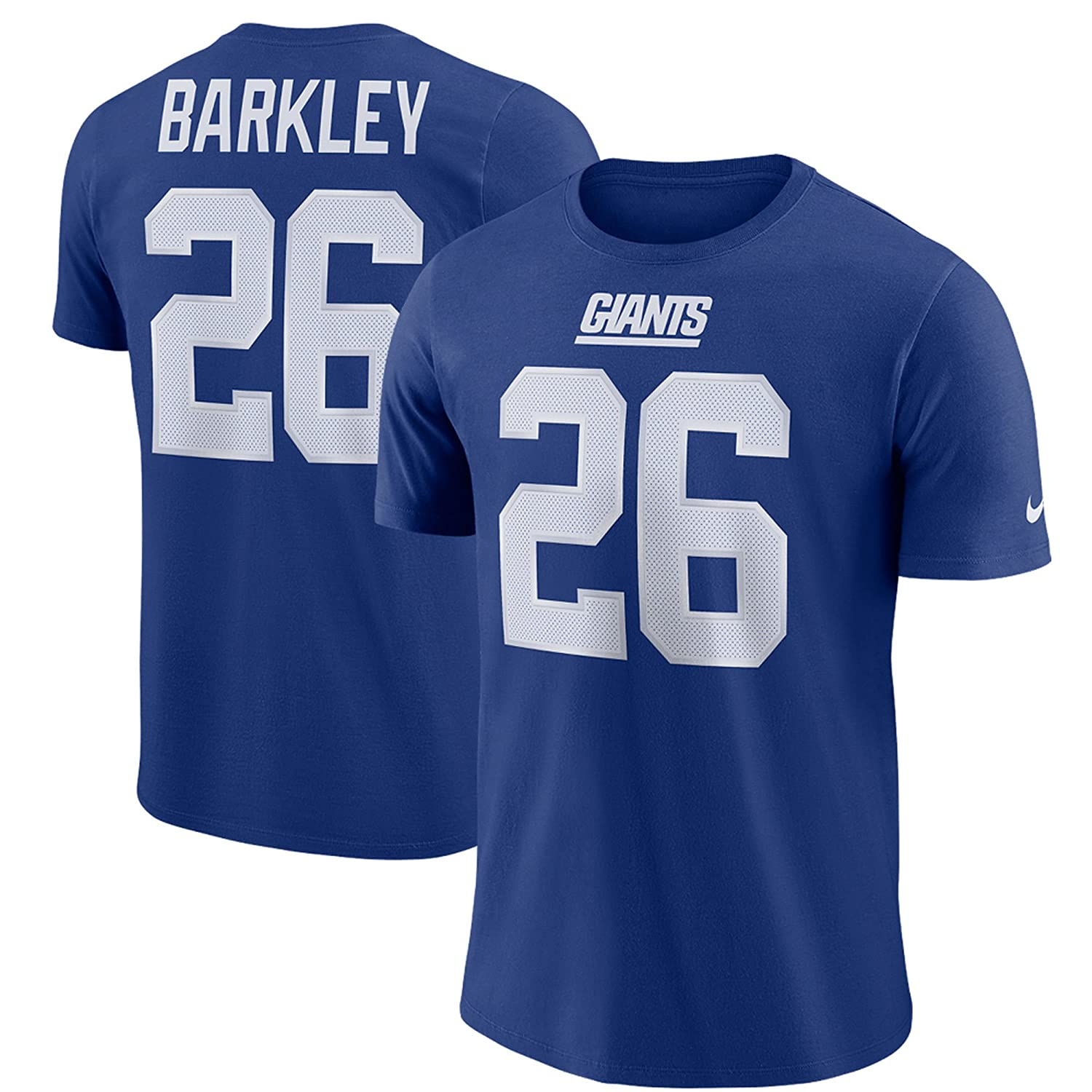 Amazon.com   Saquon Barkley New York Giants  26 Youth Boys Name   Number  Player T-Shirt   Sports   Outdoors 92d5aef93
