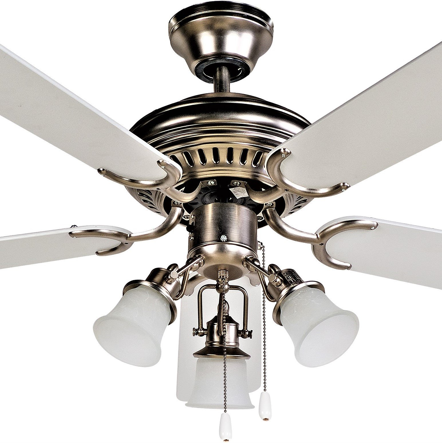 FJ- WORLD L42019 Beautiful white ceiling fan with 42'' blades,3 lights and free remote by FJ WORLD