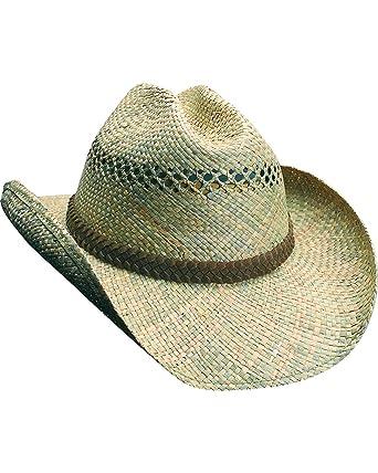 ed9fe32c2e5b1 Amazon.com  SCALA Men s Seagrass Straw Western Hat Straw S M  Clothing