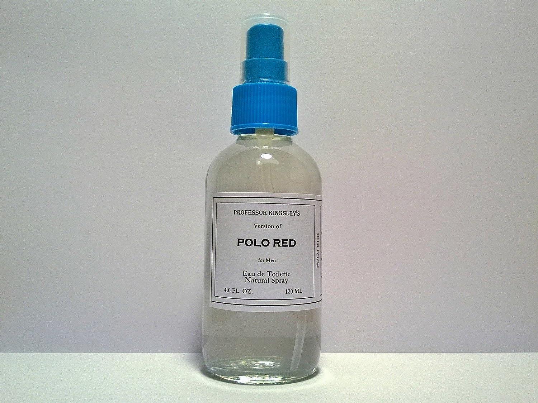Professor Kingsley's Impression of Polo Red for Men. EDT Natural Spray. Fragrance 18% by Vol. (4.0 oz Eau de Toilette Spray)