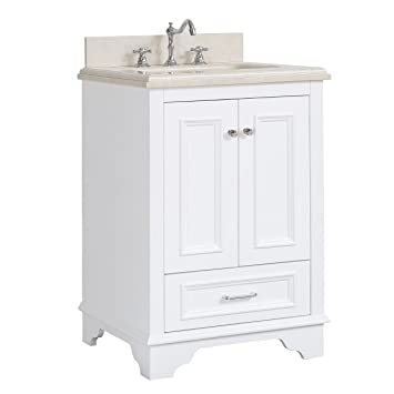 Nantucket 24 Inch Bathroom Vanity Crema Marfilwhite Includes