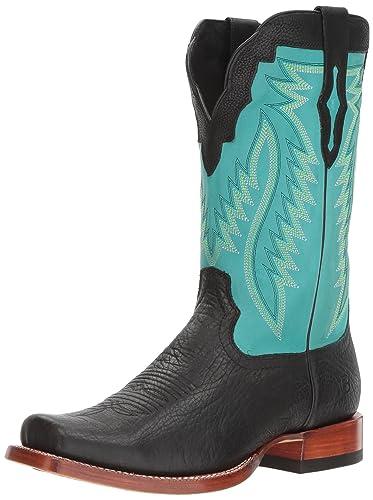 beb2122c0ff ARIAT Men s Relentless Prime Western Boot Black Bullhide Size 8 ...