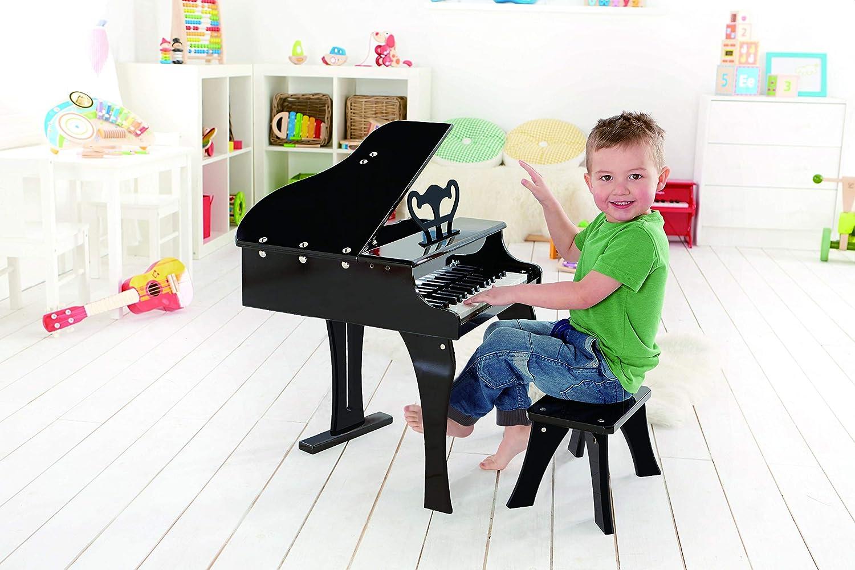 Hape - Piano de cola feliz, color negro (0HPE0320): Amazon.es: Juguetes y juegos