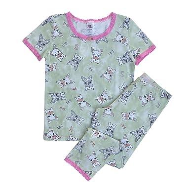 78f479e9da9c Amazon.com  Esme Girl s Short Sleeve Legging Pajama Set - French ...