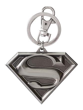 Amazoncom DC Superman Logo Pewter Keyring Toys Games