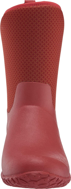 Muck Boot Women's Muckster Ii Mid Rain Boot Orange/Roses Print