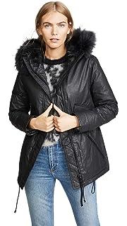7287a51e554 Amazon.com: SAM. Women's Mini Hudson Water Resistant Raccoon Fur ...