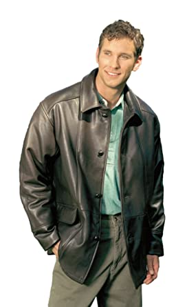 Reed Men's Premium Four Button Car Coat Leather Jacket Made in USA ...
