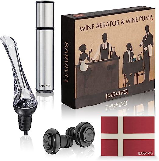 Amazon.com: Barvivo - Aireador de vino y bomba de vino con 2 ...