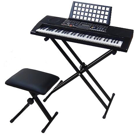 Teclado 61 teclas DynaSun MK906 LCD USB MIDI Respuesta Táctil, Keyboard E-Piano Electronico