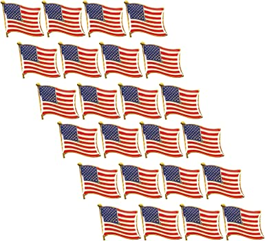 3 Pcs American Flag Lable Pins