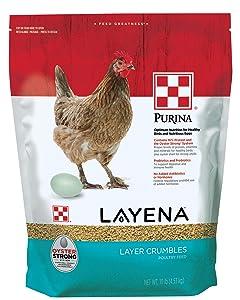 Purina Layena Layer Feed Crumbles, 10 lb Bag