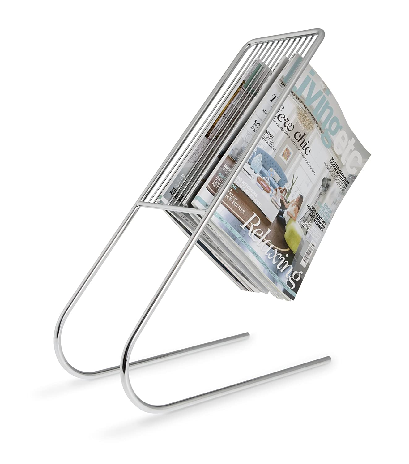 Floating Magazine Holder - Chrome j-me original design JMFLOATCH