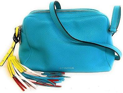 Cromia 1404265 Sac bandoulière pour femme en cuir Turquoise