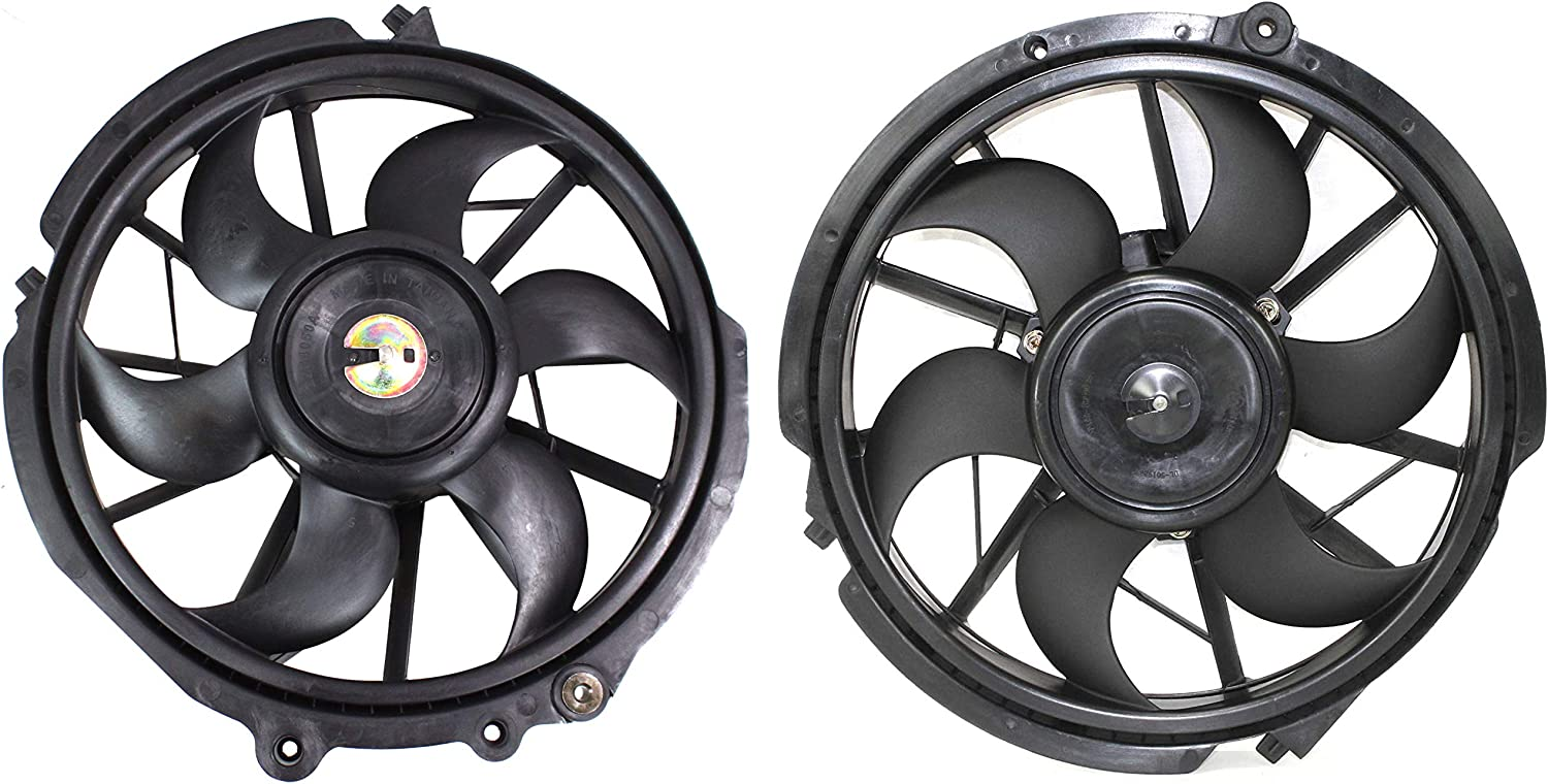 Radiator Cooling Fan For 98-2000 Ford Taurus Mercury Sable Left /& Right Set of 2