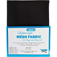 byannie sup209de Black Lightweight Mesh Fabric, 18x 54Pulgadas