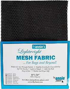 "Annie by Annie Mesh Fabric Lightweight 18""x 54"" Black, PBA02030, Black, 18"" by 54"""
