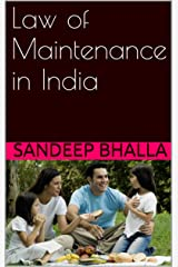 Law of Maintenance in India Kindle Edition