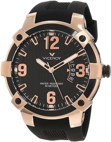 Viceroy 47635-95 - Reloj de Pulsera Hombre, Caucho, Color Negro: Amazon.es: Relojes