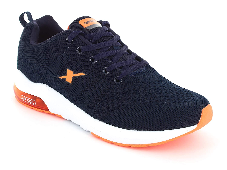 Sparx Men SM-632 Navy Blue Neon Orange