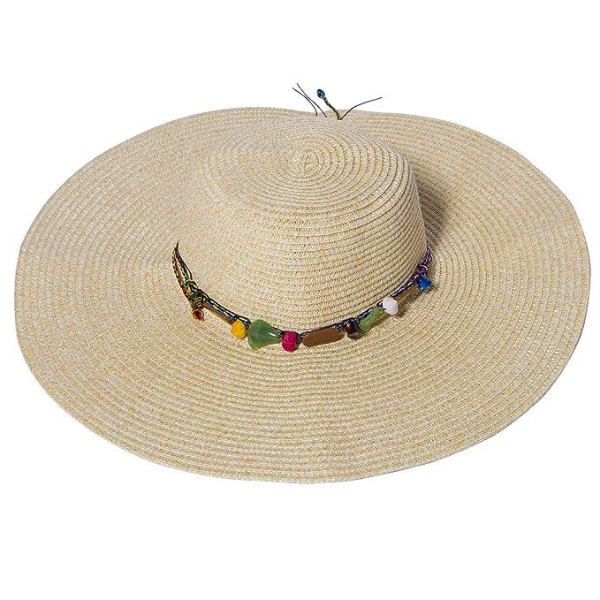 Summer Beach Sun Hats For Women FURTALK UPF Woman Foldable Floppy Travel UV