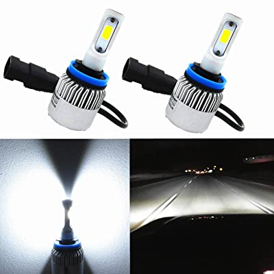 Alla Lighting COB Vision LED H11 Headlight Bulb 8000lm Xtremely Super Bright H8 H9 H11 LED Headlight Bulb Xenon H11 6000K ~ 6500K White All In One Headlamp Conversion Kits Bulbs (Set of 2): Automotive