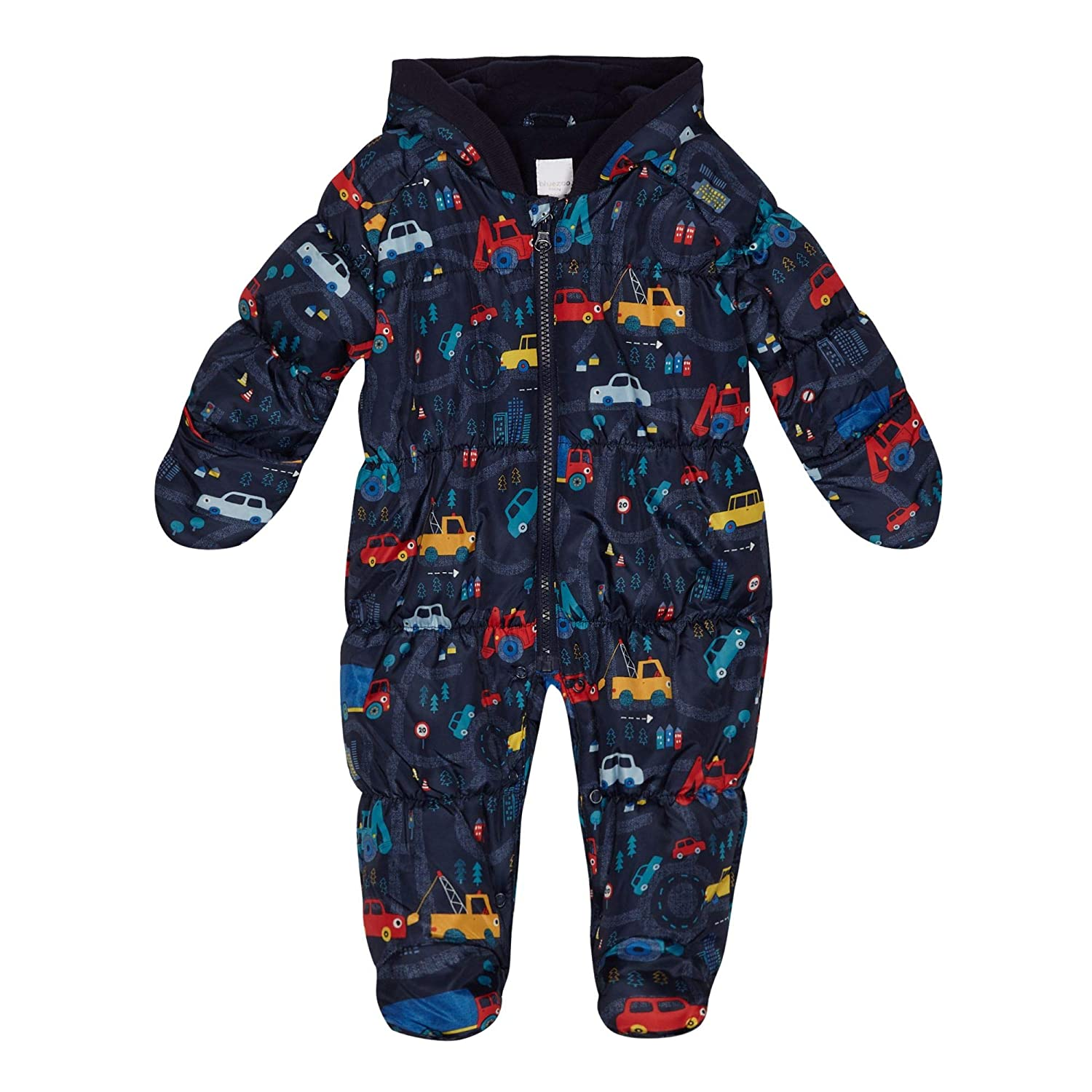bluezoo Kids 'Baby Boys' Navy Vehicle Print Snowsuit
