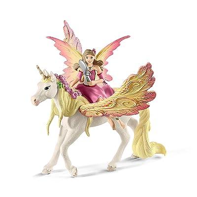 SCHLEICH bayala Fairy Feya with Pegasus Unicorn Imaginative Toy for Kids Ages 5-12: Schleich: Toys & Games