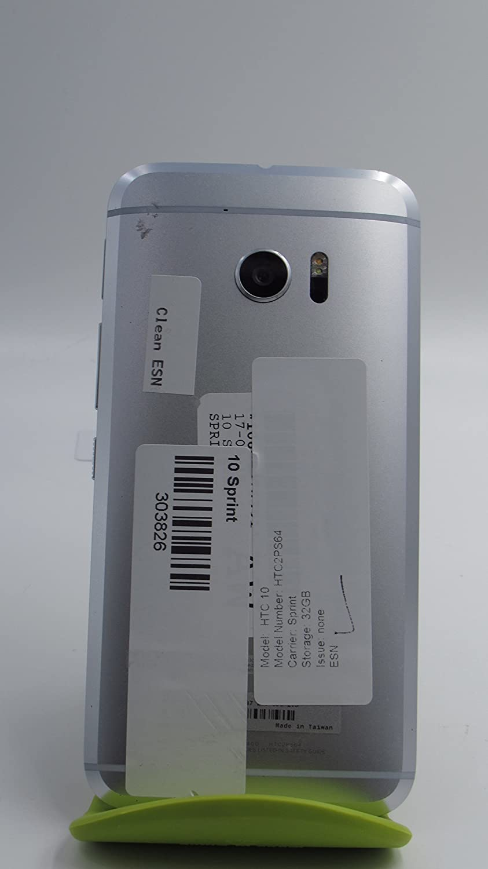 amazon com htc 10 32gb glacier silver sprint cell phones