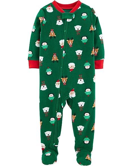 28fc408ad Carter's Baby Boys' 1-Piece Baby Christmas Fleece Pajamas (12 Months),