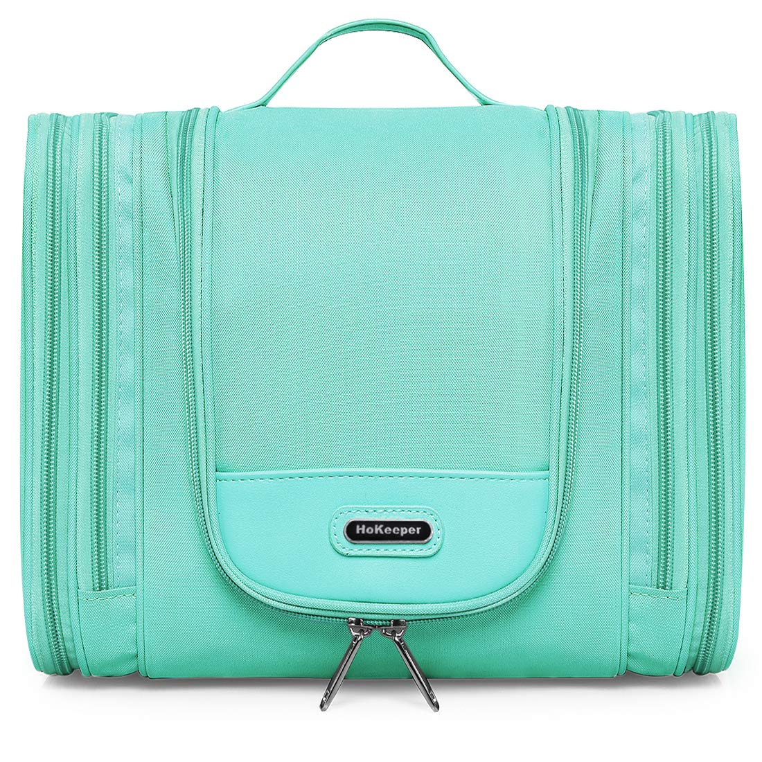 Heavy Duty Waterproof Toiletry Bag – Travel Cosmetic Makeup Bag for Women Shaving Kit Organizer Bag for Men – X Large Size 11.5 x 4.5 x 9.5 Inch Aquamarine