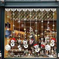 Noël Flocons De Neige Stickers, TedGem NoëL De Stickers Vitres Decoration de Noël Amovibles Statiques en PVC Noël Magasin Fenêtre Décoration, Rend la Maison Pleine de l'atmosphère de Noël