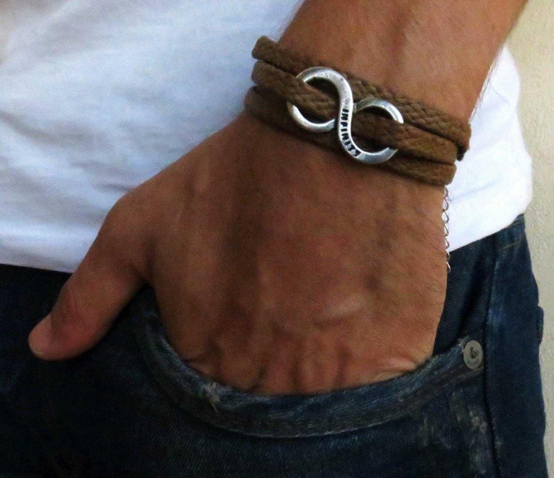 Handmade Brown Wrap Infinity Bracelet For Men By Galis Jewelry - Wrap Bracelet For Men - Brown Bracelet For Men