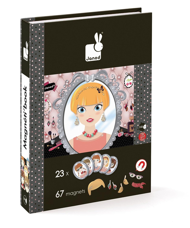 Janod - Magnetibook grande Mademoiselle, libro magnético (J02834): Amazon.es: Juguetes y juegos