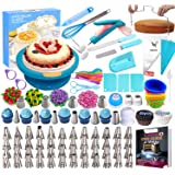 Cake Decorating Supplies Kit 280 PCS Baking Set for Beginners with Cake Turntable Stand Rotating Turntable,Russian…