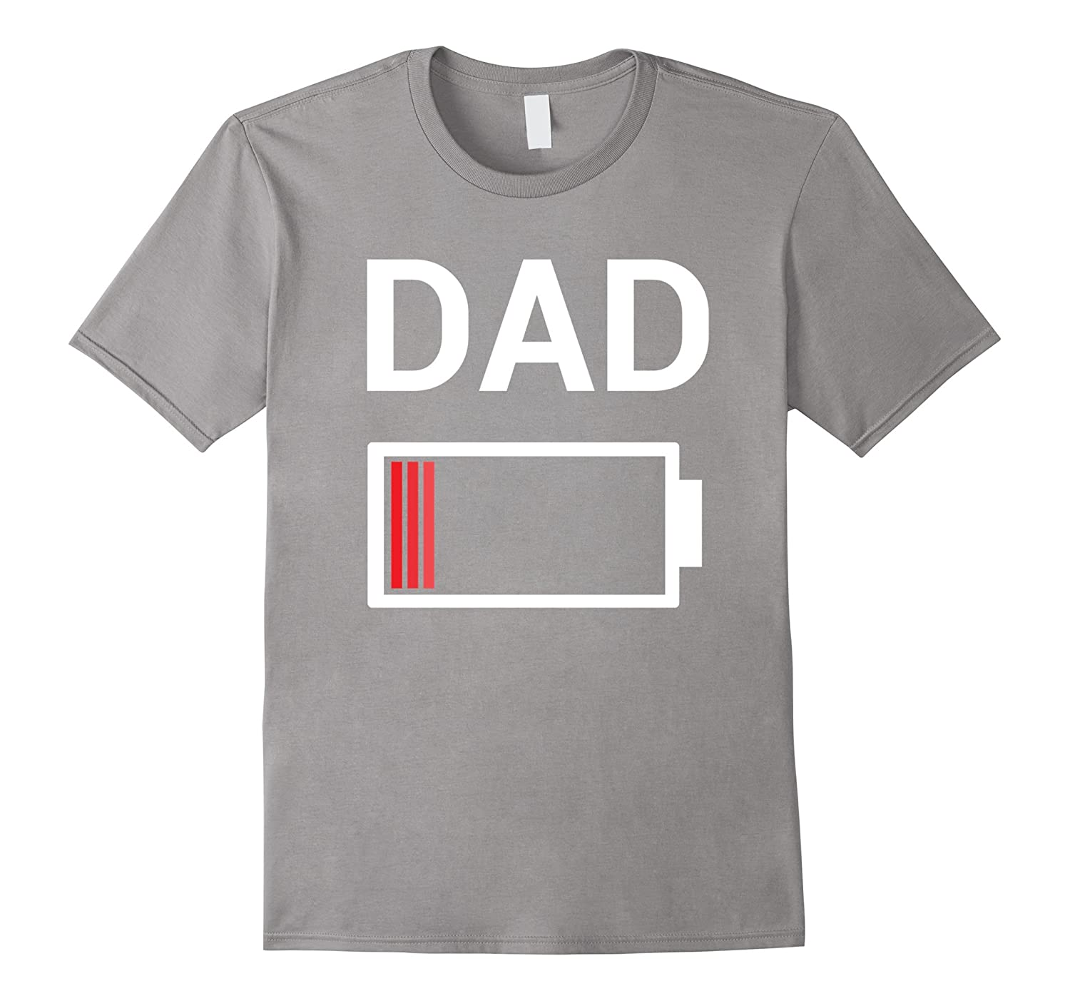 f97a4a3181 Low Battery Dad Shirt Funny Fathers Day Gift Daddy Stepdad-BN ...