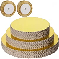 KEILEOHO - 36 tablas para tartas de 20,3 cm, 25,4 cm, base redonda para tartas, círculos de tartas, laminados dorados, a…